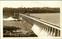 Conowingo Dam MD Homes in Background c1930 Real Photo Postcard