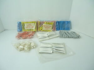 VINTAGE  Cold Wave Perm Rods 12 Dozen Blue /Peach/yellow/white  (12 Dozen)