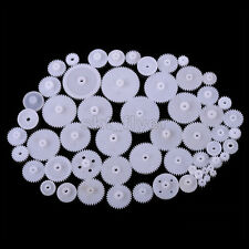 58pcs Plastic Gears Worm Tooth Crown Robotic Part for Car Toy Trucks Shaft