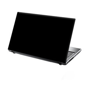 "TaylorHe 15.6"" Laptop Vinyl Skin Sticker Decal Cover Pure Black Simple"