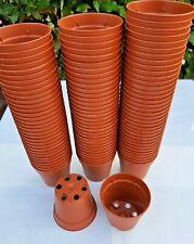 50 x VASI PLASTICA TONDI Ø 5,5 H 5 *L 0,08 COLORE COCCIO SEMINA PIANTINE - 50PZ