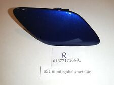 BMW E92 E93 FRONT HEADLIGHT WASHER COVERS RIGHT SIDE (Montego Blue Metallic A51)