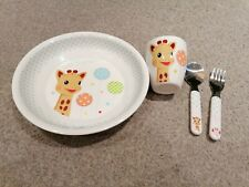 Sophie The Giraffe Meal-time set - Plate, cup and cultery (balloon version)