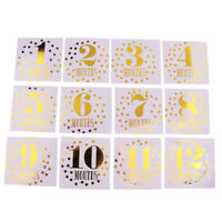 1-12 Months Baby Milestone Month Stickers Baby Boys Girls Photo Props
