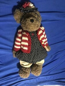 The Boyds Bear Collection Jointed Stuffed Bear
