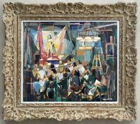 ROBERT MENVIELLE (1919-2019) ELEVE DE CAMILLE HILAIRE / COURS AU BEAUX-ARTS (1)