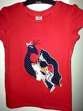 Children Kids Shirt Girls 3D Peacock Shirt Size 6 Personalised Red