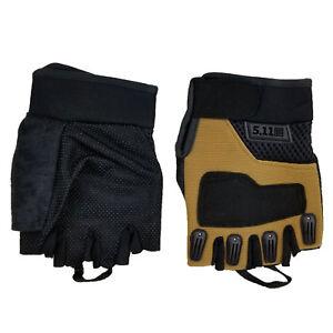 Mens Fingerless Gloves  Bike Cycling Gym Sports  Half Finger M/L
