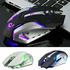 X7  Wireless Mice LED Backlit Optical Rechargeable Ergonomic Gaming Mouse US