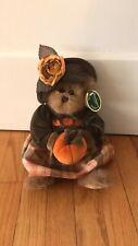 "The Bearington Collection ""Autumn Harvester"" Pumpkin #1079 Bear 14"" Tall"
