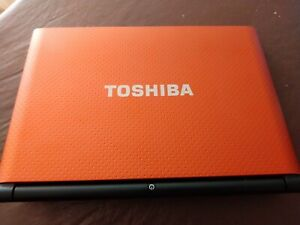 TOSHIBA NB550D NETBOOK WITH 2GB MEMORY (1GB UPGRADE) POWER SUPPLY AND COVER