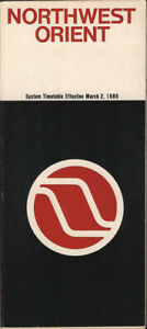 Northwest Orient Airlines system timetable 3/2/86 [308NW] Buy 4+ save 25%