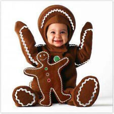 TOM ARMA Gingerbread Baby Costume + Toy 12-18  mo Christmas Holiday Photo Card