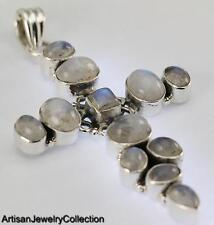 RAINBOW MOONSTONE PENDANT 925 STERLING SILVER ARTISAN JEWELRY COLLECTION Y085B
