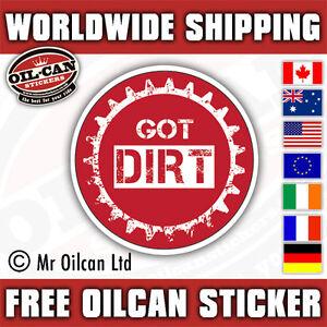 Got Dirt MTB sticker 85mm diameter mountain bike