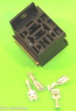 Sockel f. Kfz - Relais inkl.5 Flachsteckhülsen anreihb. Relaissockel Mini
