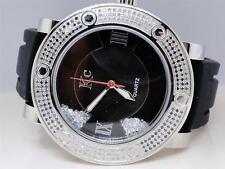 Mens Techno Com KC Joe Rodeo Master Floating Black & White Diamond Watch 2.7 Ct