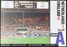 Netherlands V England, Euro 96, 1996 Football Maximum Card Unused #C49488