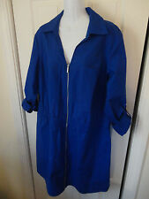 Michael Kors front Zip Roll Up Sleeve Dress Royal Blue 3X MSRP $145.00 NWT!