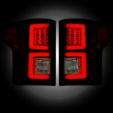 RECON FORD F150 RED SMOKED LED TAIL LIGHTS 15-17 PART# 264268RBK