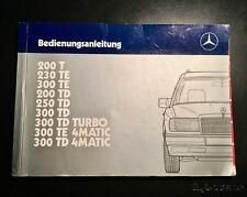 Bedienungsanleitung für Mercedes-Benz 124 er T-Modelle