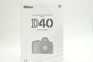 Nikon D40 Instruction Owners Manual D40