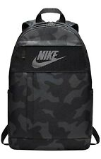 "Brand New Nike Elemental 2.0 Black/Gray Camo Print Backpack Hold 15"" Laptop"
