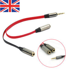 3.5mm Earphone Headphone Y Splitter Cable Adapter Jack Male To Double Female Red
