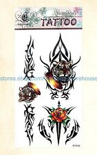 US Seller-tribal tiger temporary tattoo temporary tatoo