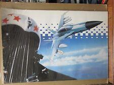 Vintage TOP GUN 1987 poster Military Airplane jet 12444