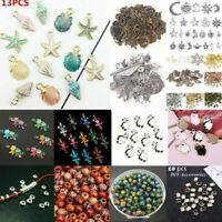 100Pcs Mixed Conch Shell Animal Flowers Beads Charms Pendant Jewelry Making DIY