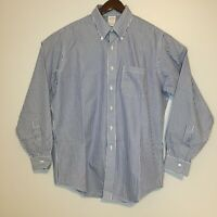 Brooks Brothers Mens Dress Shirt Traditional Fit 16 1/2-36 Long Sleeve Striped