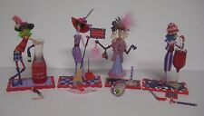 Dolly Mama's Dazzling Divas Lot of 4 Red Hat Ladies Figurines Purple For Repair