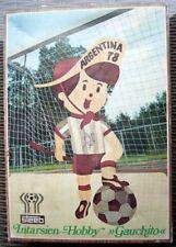Smaltito INTARSI LEGNO-ritorno inserto lavoro GAUCHITO 1978 Argentina Calcio Wm