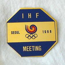 1988 SEOUL Olympic Games IHF MEETING Participant Pin BADGE Olympics HANDBALL