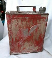 Vintage Shell Aviation Fuel Petrol Can Stunning Patina Rare Find Free Postage