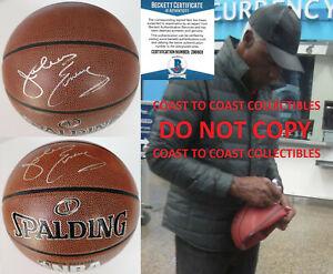 Julius Erving Dr J New Jersey Nets 76ers signed NBA basketball COA proof Beckett