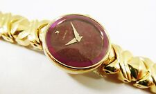 Lassale by Seiko Gold Tone Metal Purple Dial 1N00-4A30 Sample Watch NON-WORKING