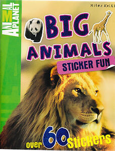 Big Animals Sticker Activity Book (Paperback) Facts Learning Fun for Kids