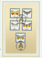 BRD ETB Ersttagsblatt 14/1992 Schmetterlinge Mi.Nr.1602-1606