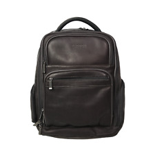 Kenneth Cole Reaction Brown Leather Rucksack City Backpack Laptop Compartment