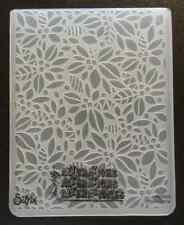 Sizzix grande carpeta de grabación en Relieve Navidad Hojas bayas encaja Cuttlebug 4.5x5.75in