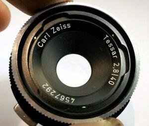 Carl Zeiss Tessar 40mm f2.8 LENS for Rolleiflex SL cameras Parts repair AS IS