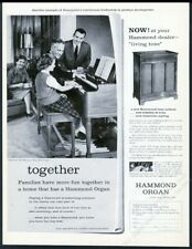 1959 Hammond B-3 B3 organ & tone cabinet photo vintage print ad