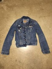 Hollister Women's Distressed Jean Jacket size small