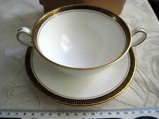 Aynsley Legend Noir Soupe Bol & Plat Made in England Fine English bone china