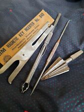 Vintage Hand Tool  Reamer Crank Drill zim magnetic key inserted pull pick tool
