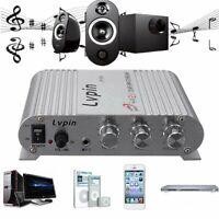 New Mini Hi-Fi 2.1 Stereo Amplifier Amp Radio MP3 200W 12V*Power Adapter AU