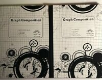 Norcom Graph Composition Book 5x5 & 4x4 1 Each, 100 Sheets LOT OF TWO (2)