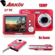 "CDFE 2.7"" TFT LCD HD Digital Camera 18MP 8x Zoom Anti-shake Video Camcorder Red"